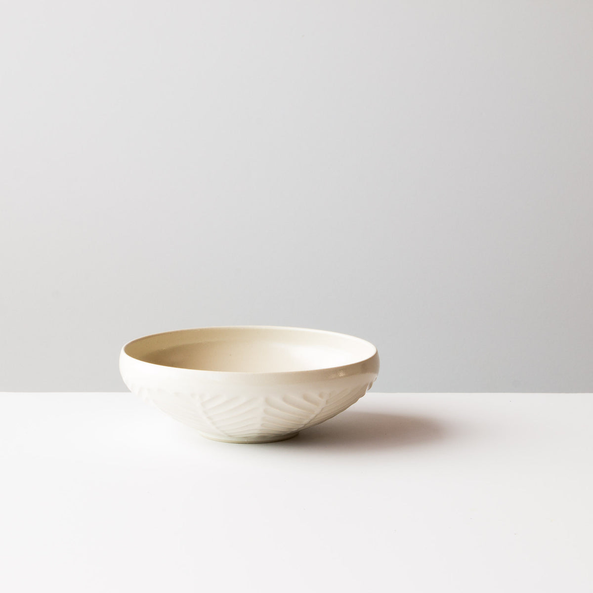Side View - Off-White - Small Hand Thrown Ceramic Bowl - Handmade in Canada - Chic & Basta