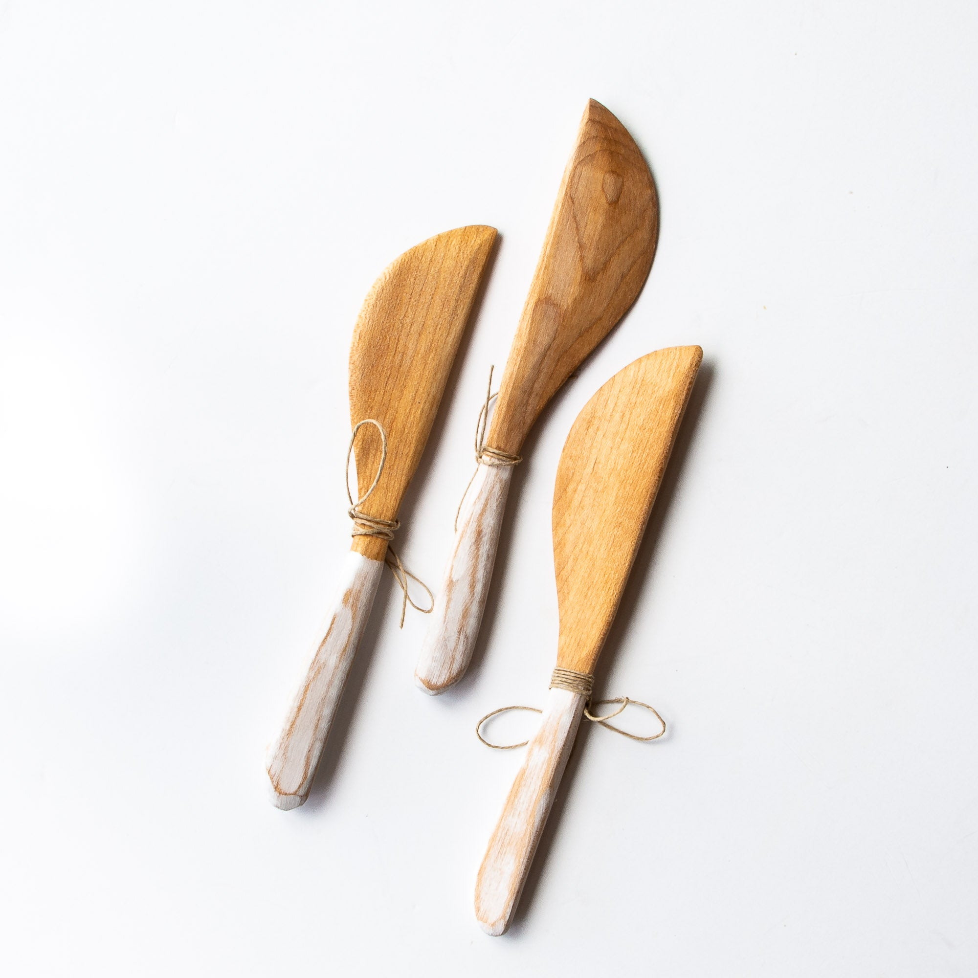 Three Small Reclaimed Wooden Knifes - Handmade in Reclaimed Wood - Sold by Chic & Basta