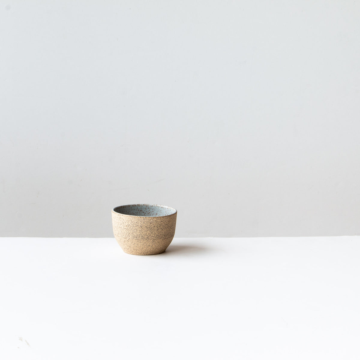 Small Speckled Stoneware Tea Bowl - Pale Blue Glaze - Sold by Chic & Basta