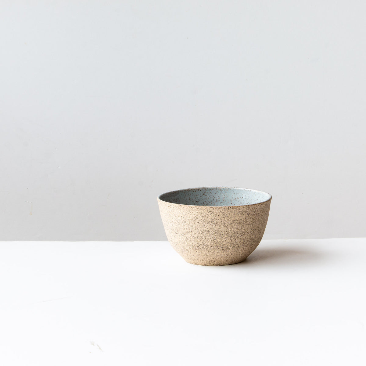 Speckled Stoneware Bowl - Pale Blue Glaze - Sold by Chic & Basta
