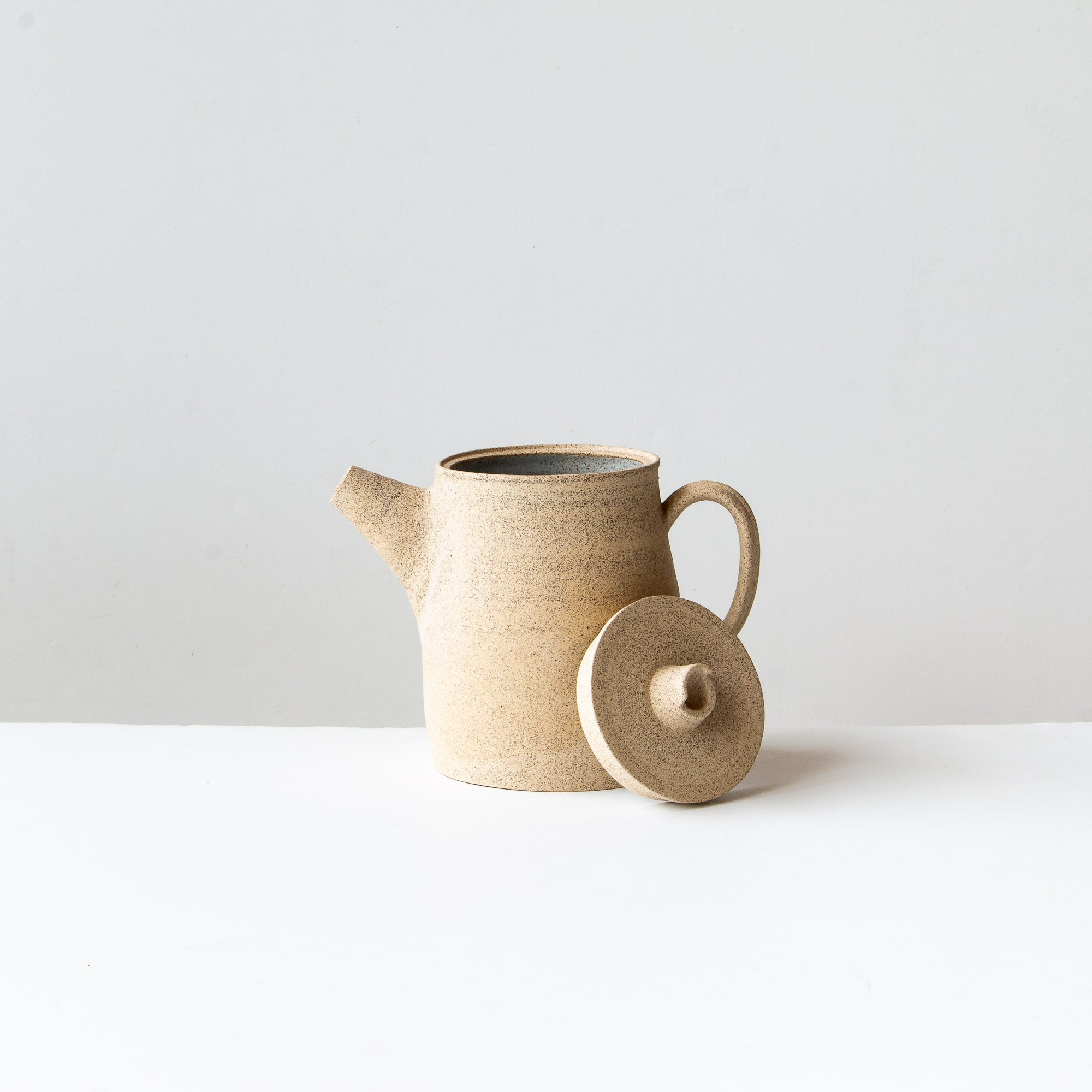 Speckled Stoneware Tea-pot - Pale Blue Glaze - Sold by Chic & Basta