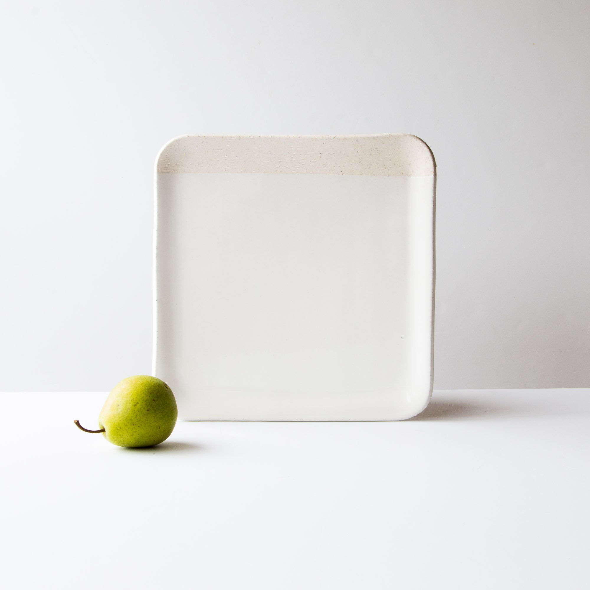 Grey Clay - Creamy White Glaze - Handmade Small Ceramic Square Serving Board