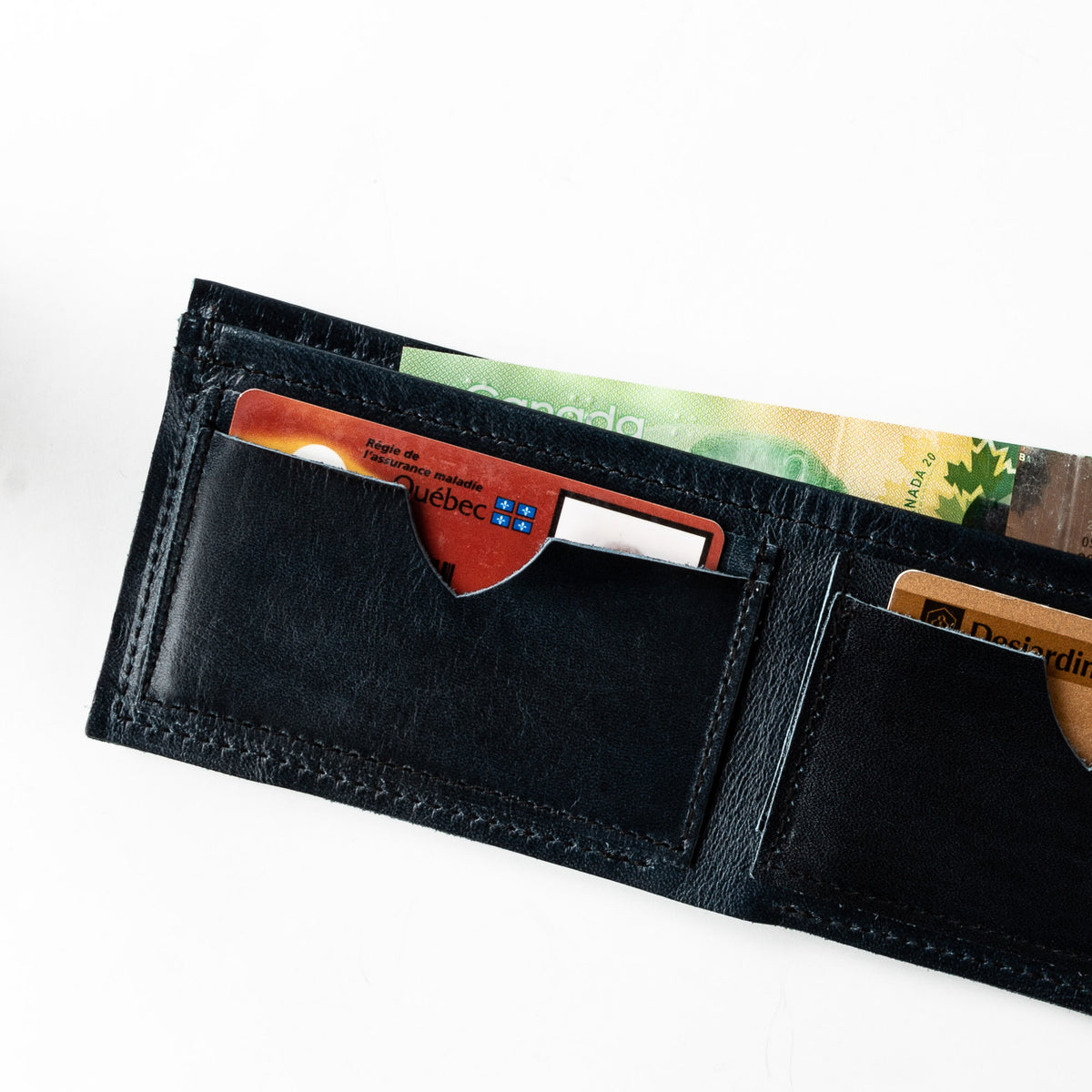 Inside View - St-Joseph - Classic Unisex Wallet / Card Holder - Sold by Chic & Basta