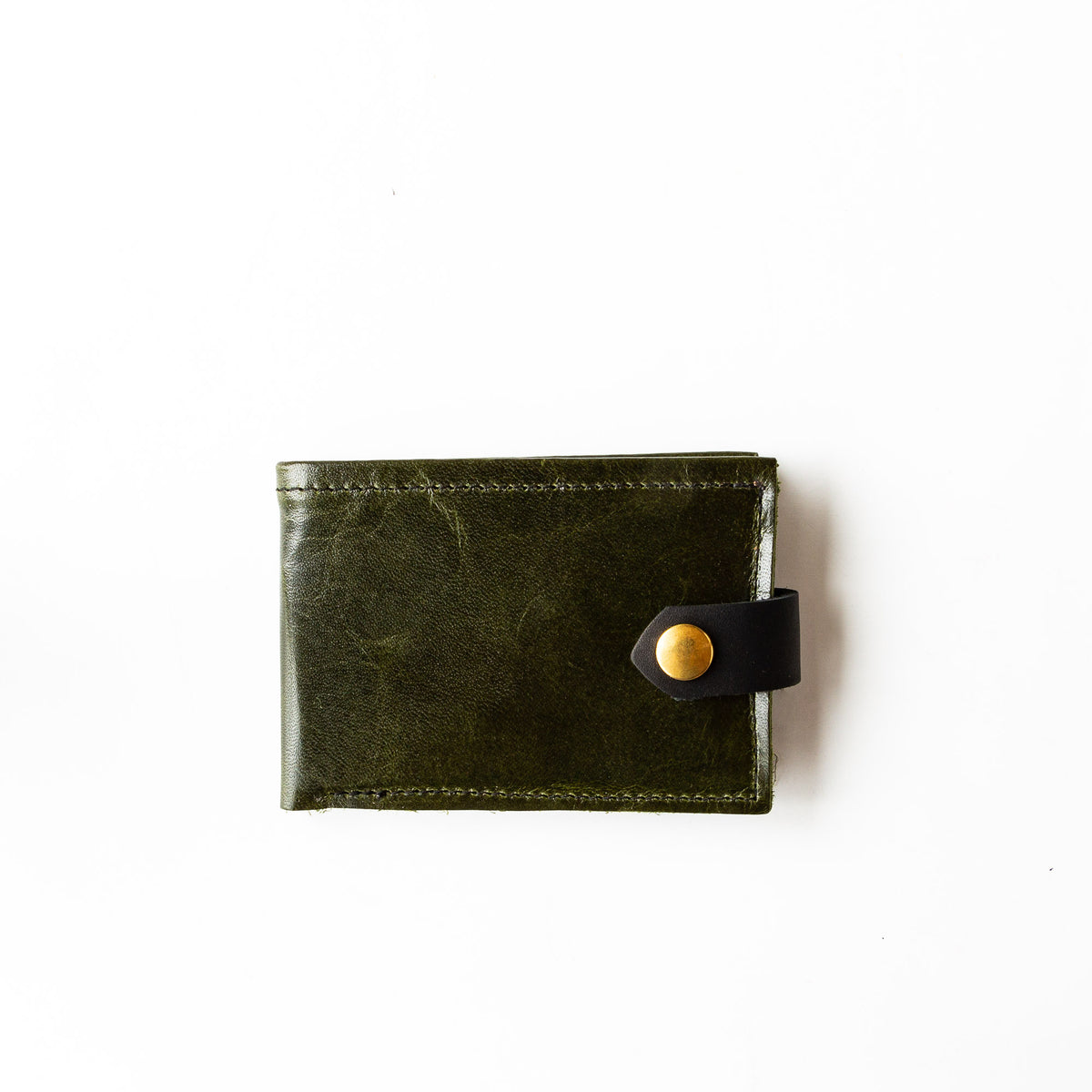 Forest Green - Oiled Black - St-Joseph - Classic Unisex Wallet / Card Holder - Sold by Chic & Basta