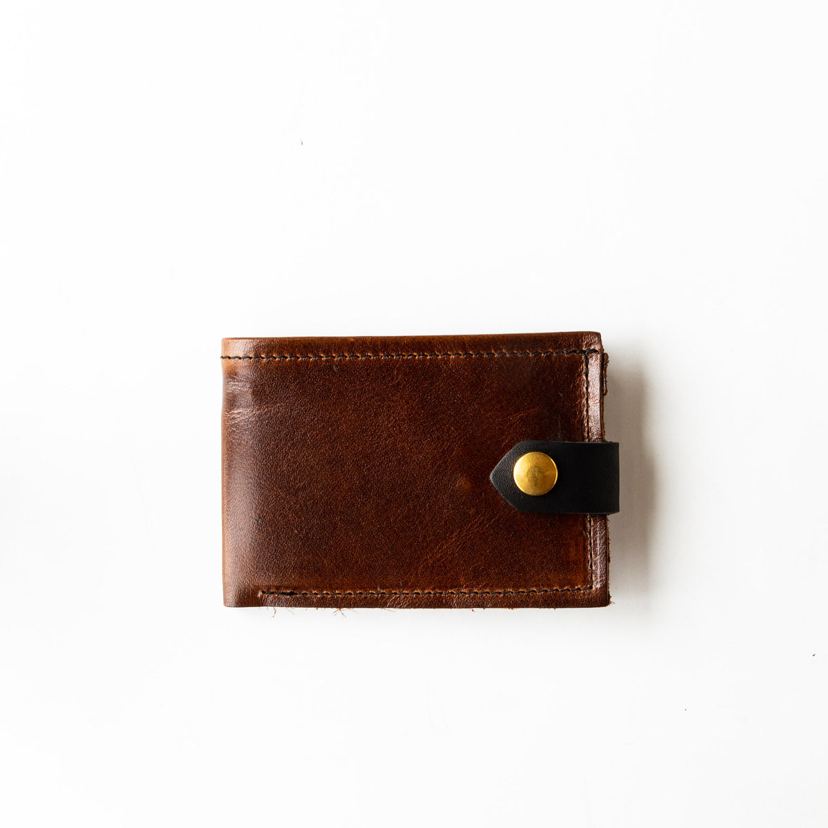 Cognac Brown - Oiled Black - St-Joseph - Classic Unisex Wallet / Card Holder - Sold by Chic & Basta