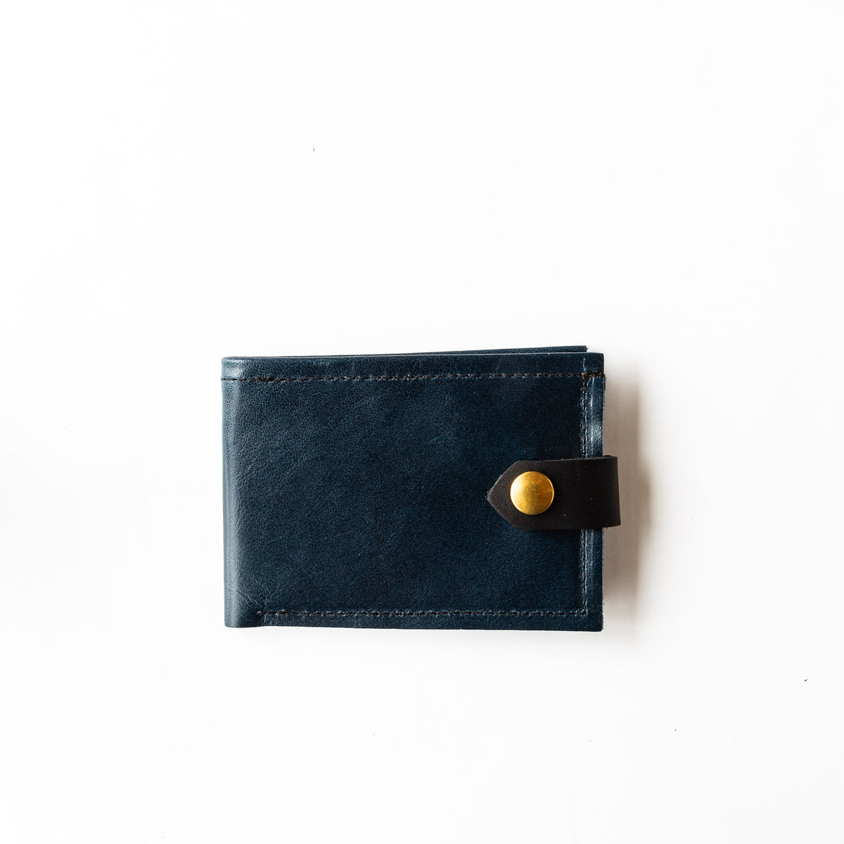 Deep Blue - Oiled Black - St-Joseph - Classic Unisex Wallet / Card Holder - Sold by Chic & Basta
