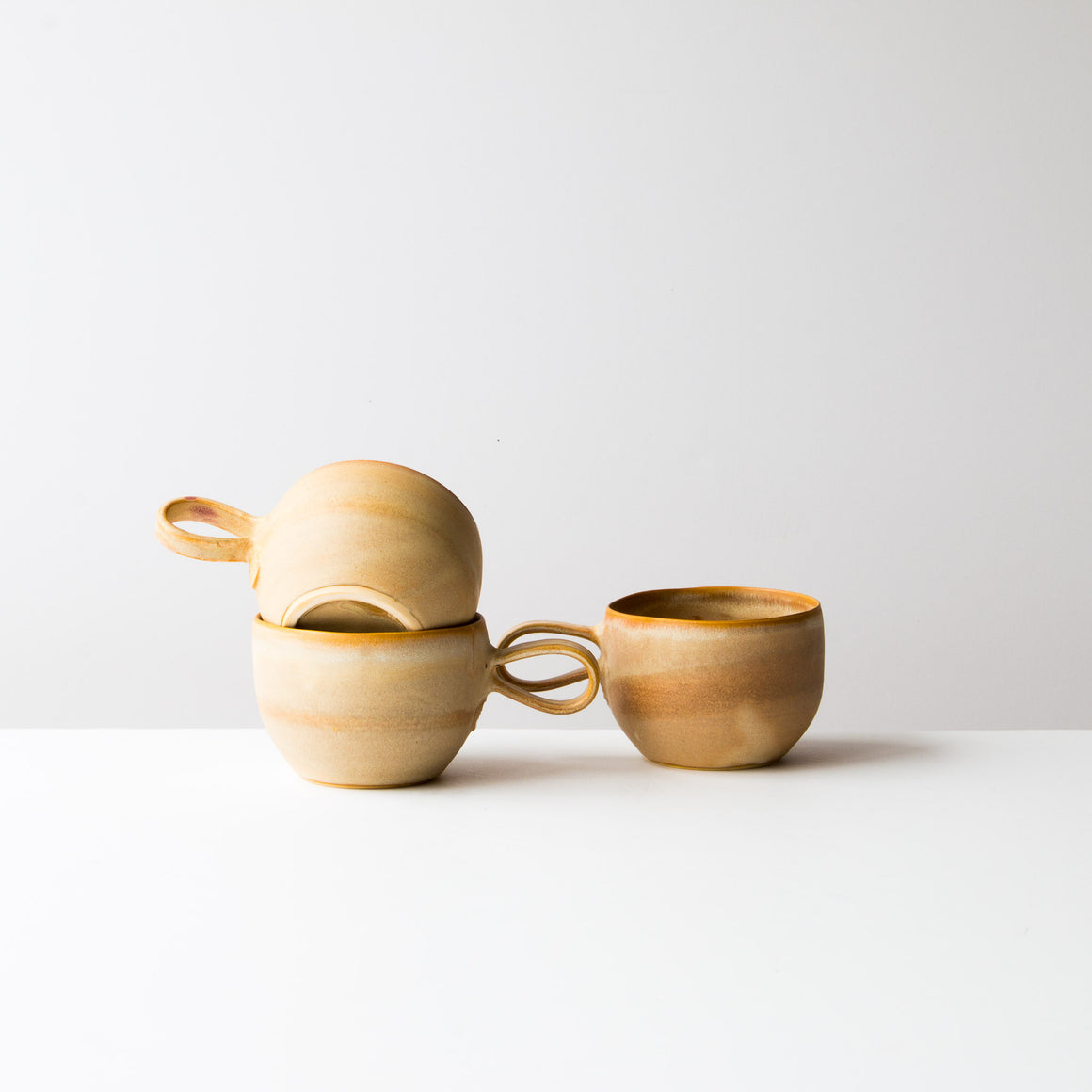 Three Handmade Ceramic Cups in Stoneware - Sold by Chic & Basta