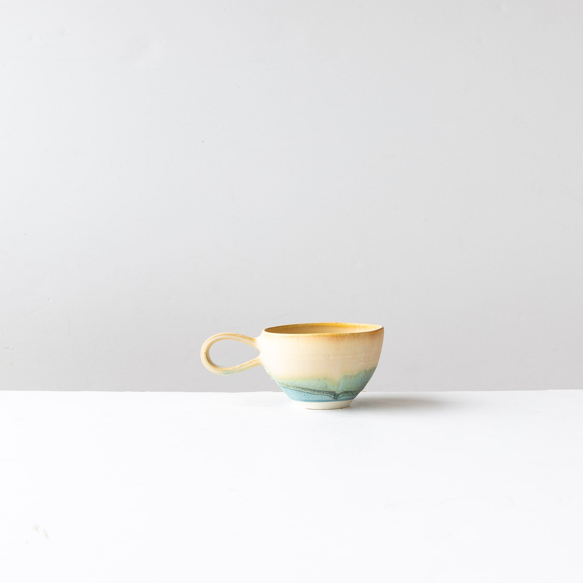 Handmade Stoneware Cup - Sea, Sky, Sand - Sold by Chic & Basta