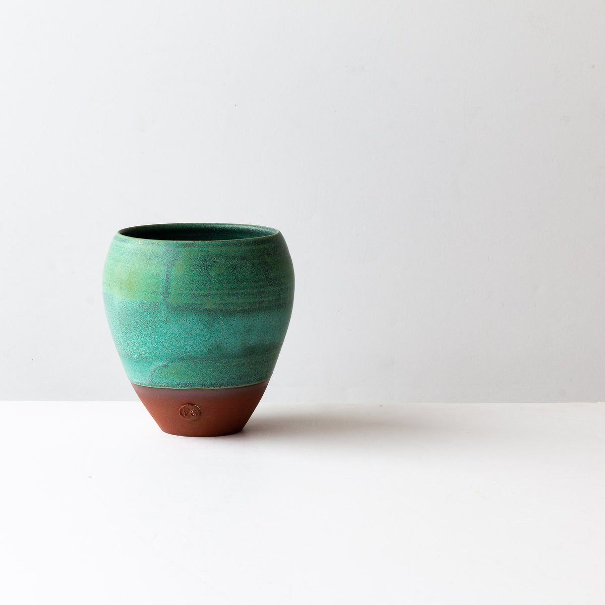 Turquoise & Terracotta Flower Vase - Handmade in Stoneware - Sold by Chic & Basta