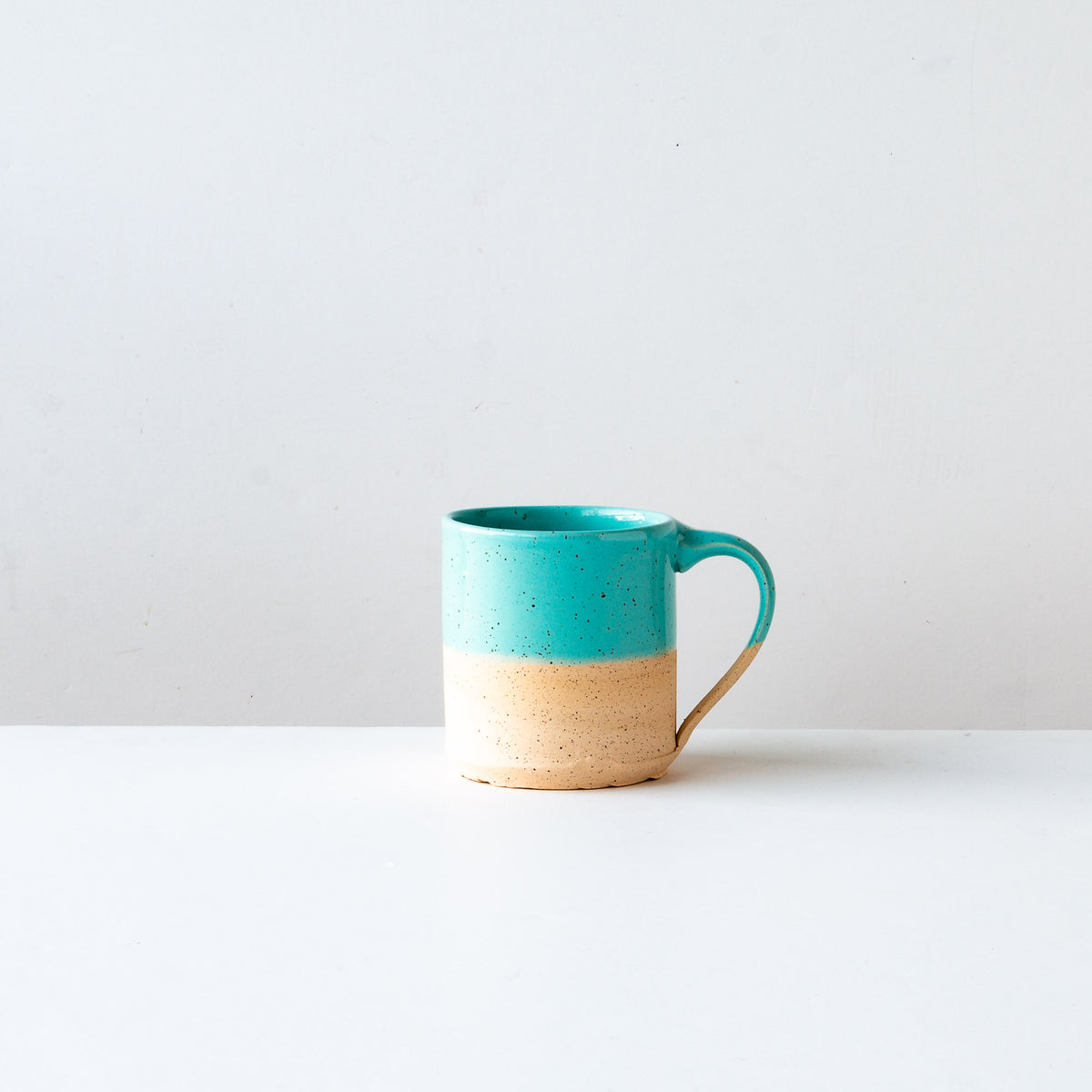 Turquoise Glaze - Handcrafted Speckled Stoneware Small Mug - Sold by Chic & Basta