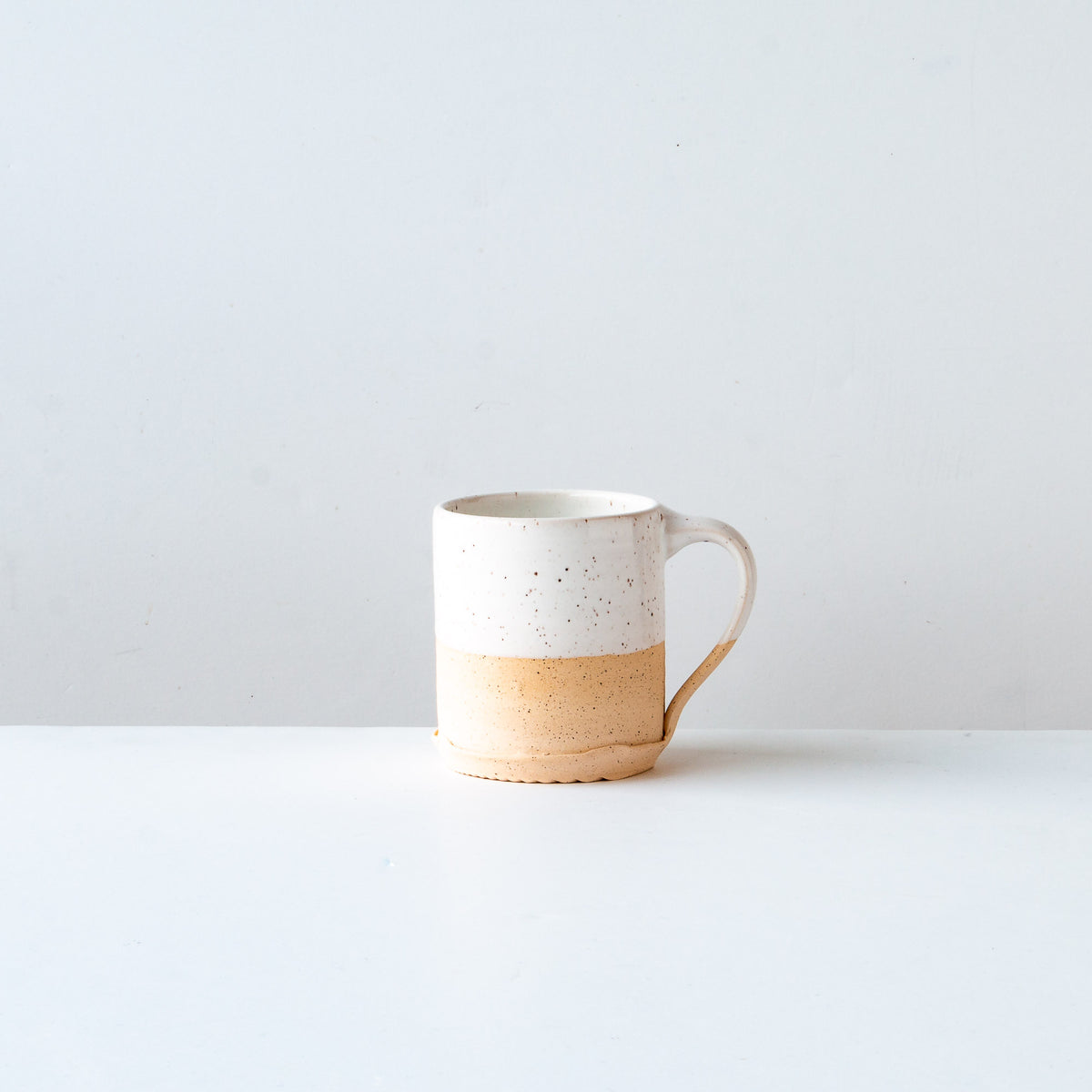 White Glaze - Handcrafted Speckled Stoneware Small Mug - Sold by Chic & Basta