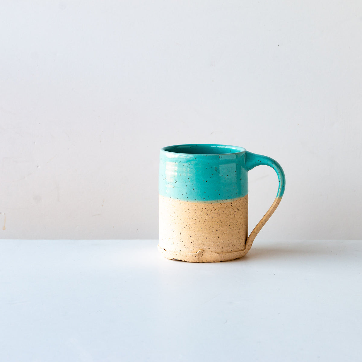 Turquoise Glaze - Handcrafted Speckled Stoneware Large Mug - Sold by Chic & Basta