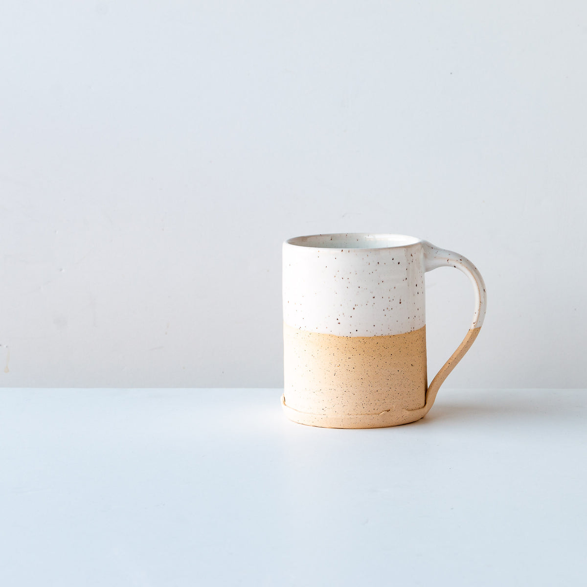 White Glaze - Handcrafted Speckled Stoneware Large Mug - Sold by Chic & Basta