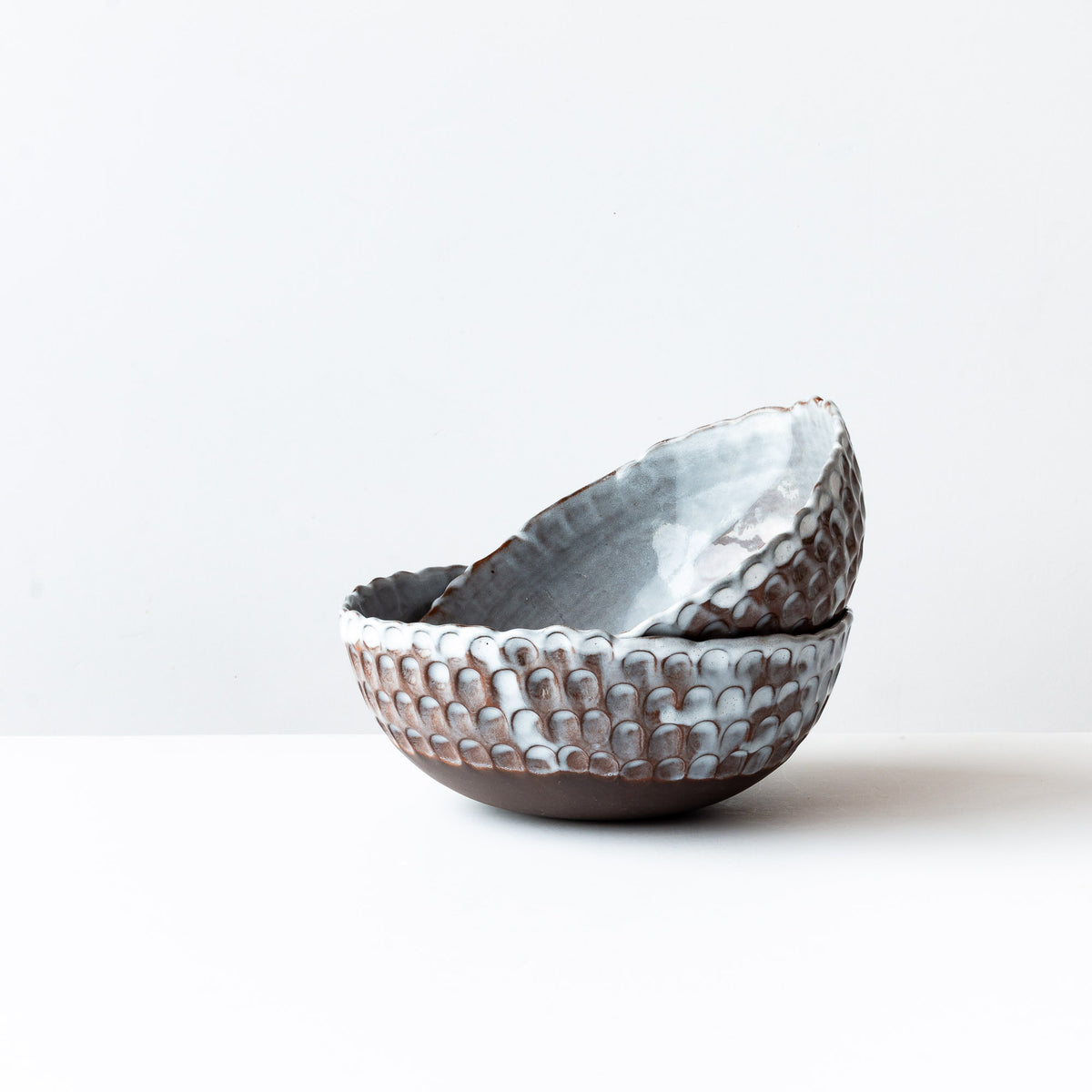 Medium Handmade Stoneware Pinched Bowls  - Sold by Chic & Basta