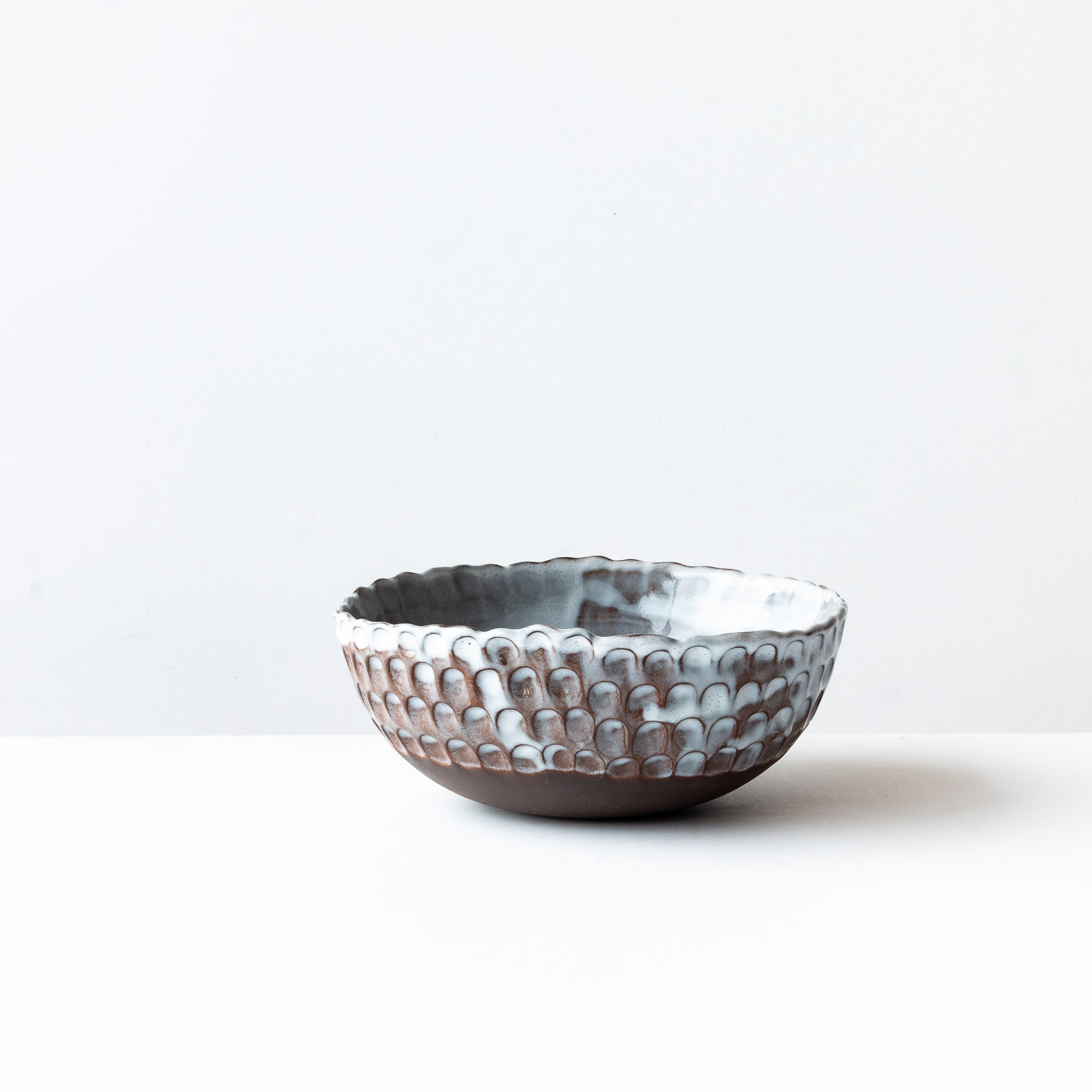 Medium Handmade Stoneware Pinched Bowl  - Sold by Chic & Basta
