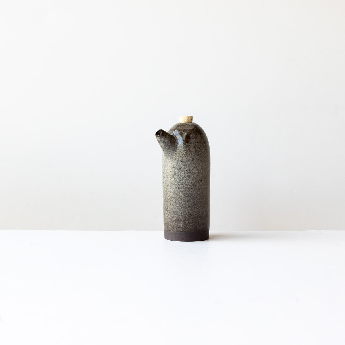 Dark Grey Handmade Stoneware Vinegar Bottle - Sold by Chic & Basta