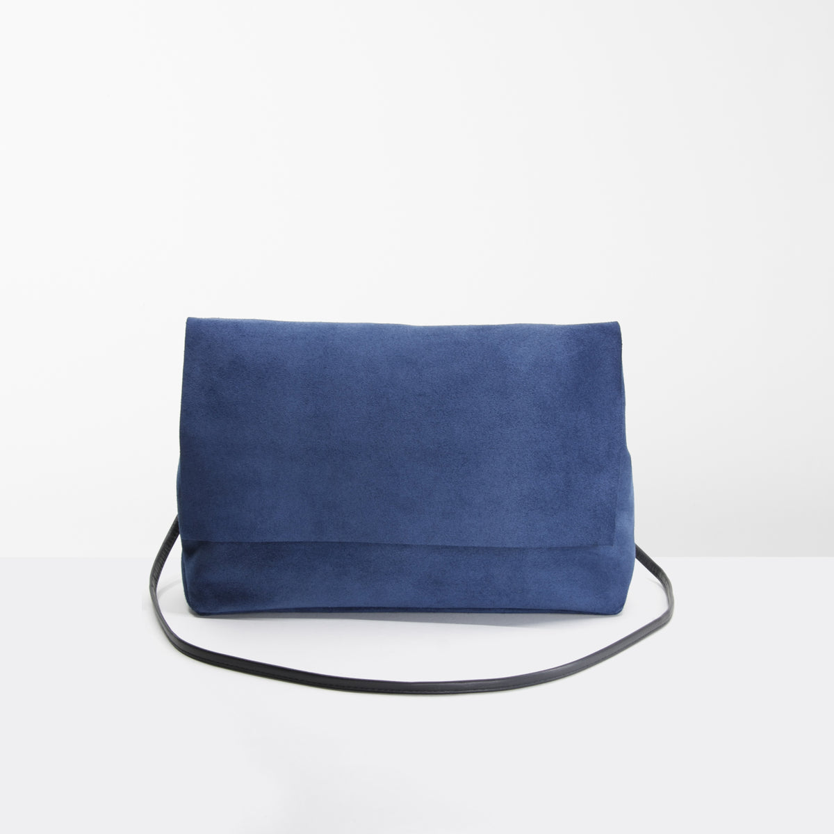 Royal Blue & Mustard Suede Handbag - Sold by Chic & Basta