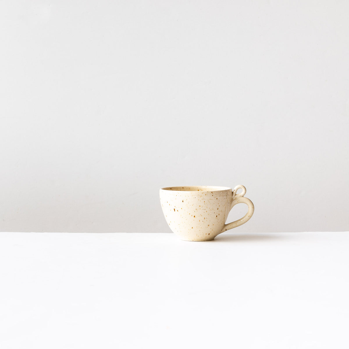 Swan - Handmade Stoneware Cappuccino Cup - Sold by Chic & Basta