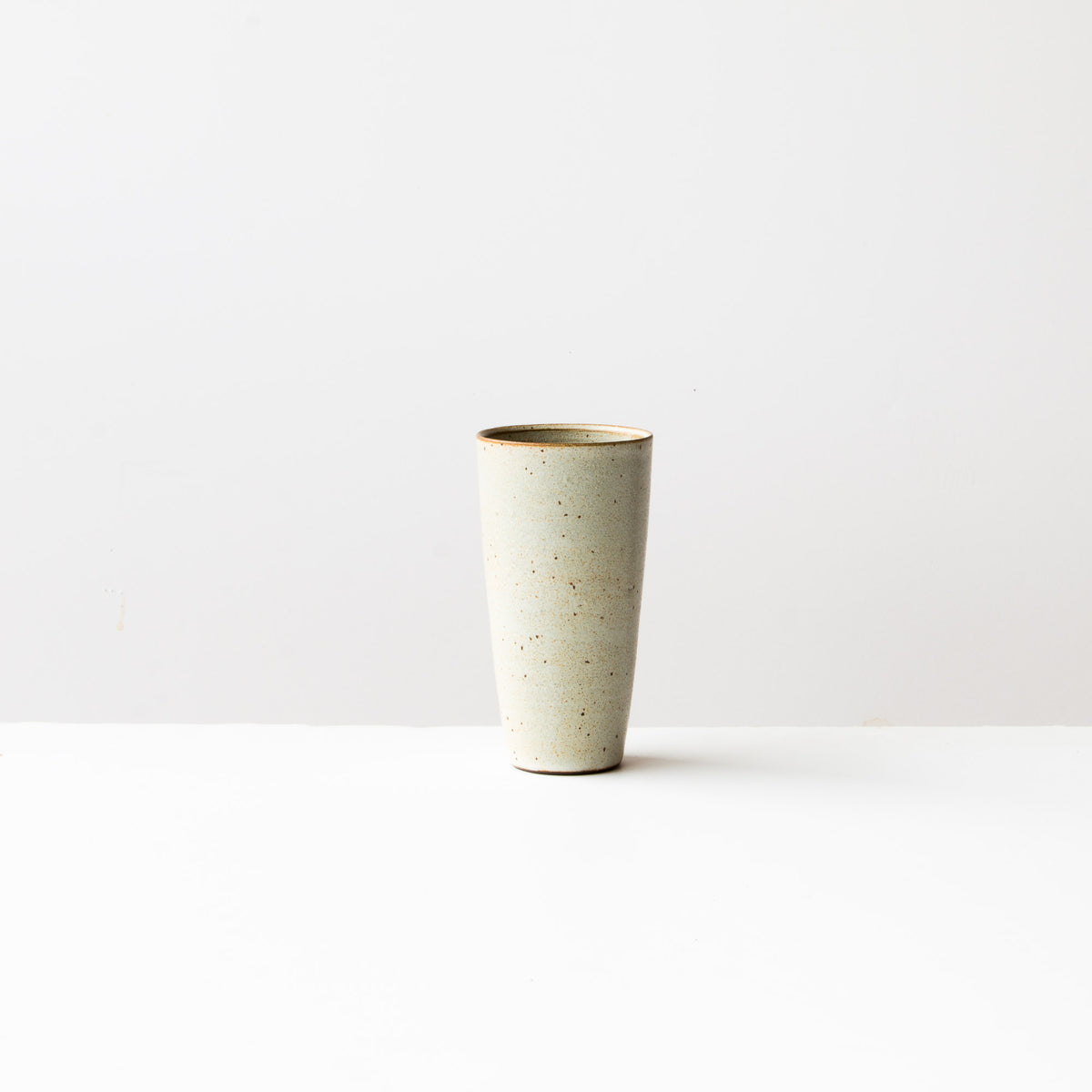 Greige Colour - Handmade Tall Ceramic Tumbler - Sold by Chic & Basta