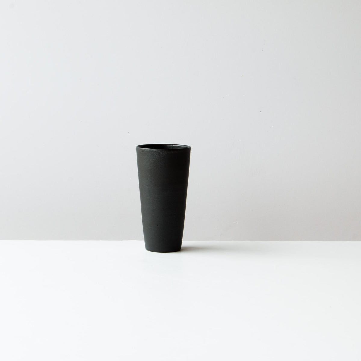 Black Colour - Handmade Tall Ceramic Tumbler - Sold by Chic & Basta
