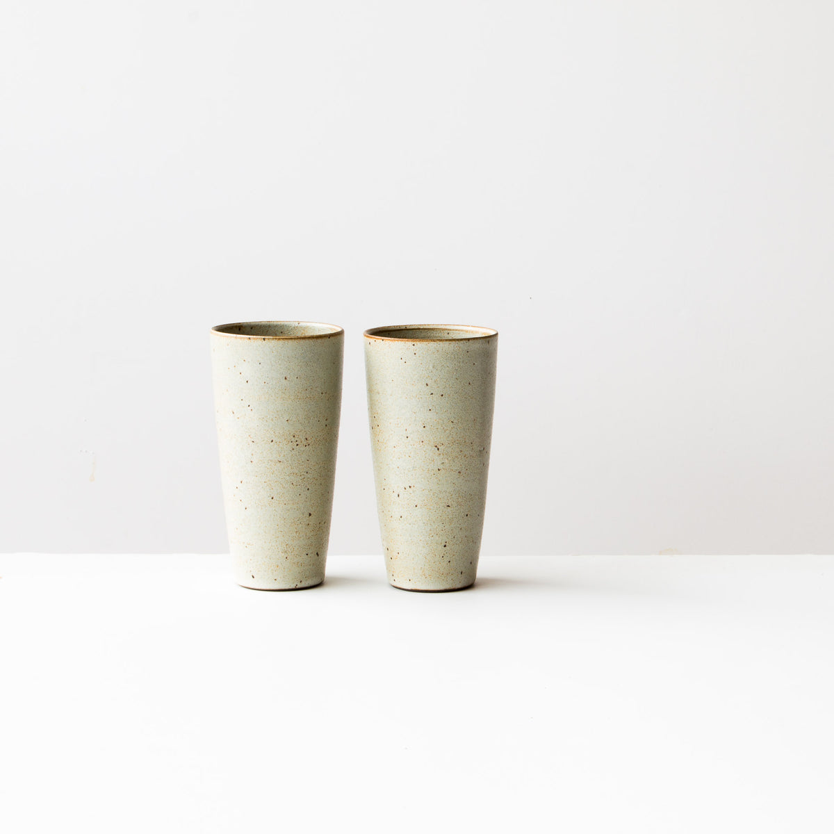 Greige Colour - Handmade Tall Ceramic Tumblers - Sold Online by Chic & Basta