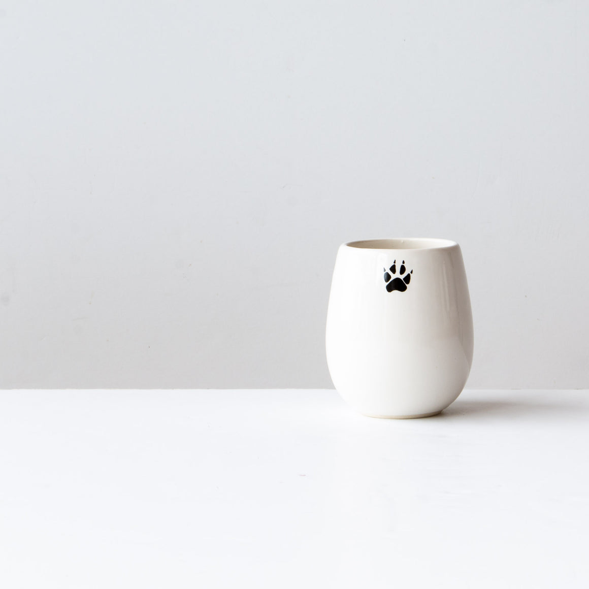 The Wolf - Handthrown Porcelain Wine Glass - Sold by Chic & Basta