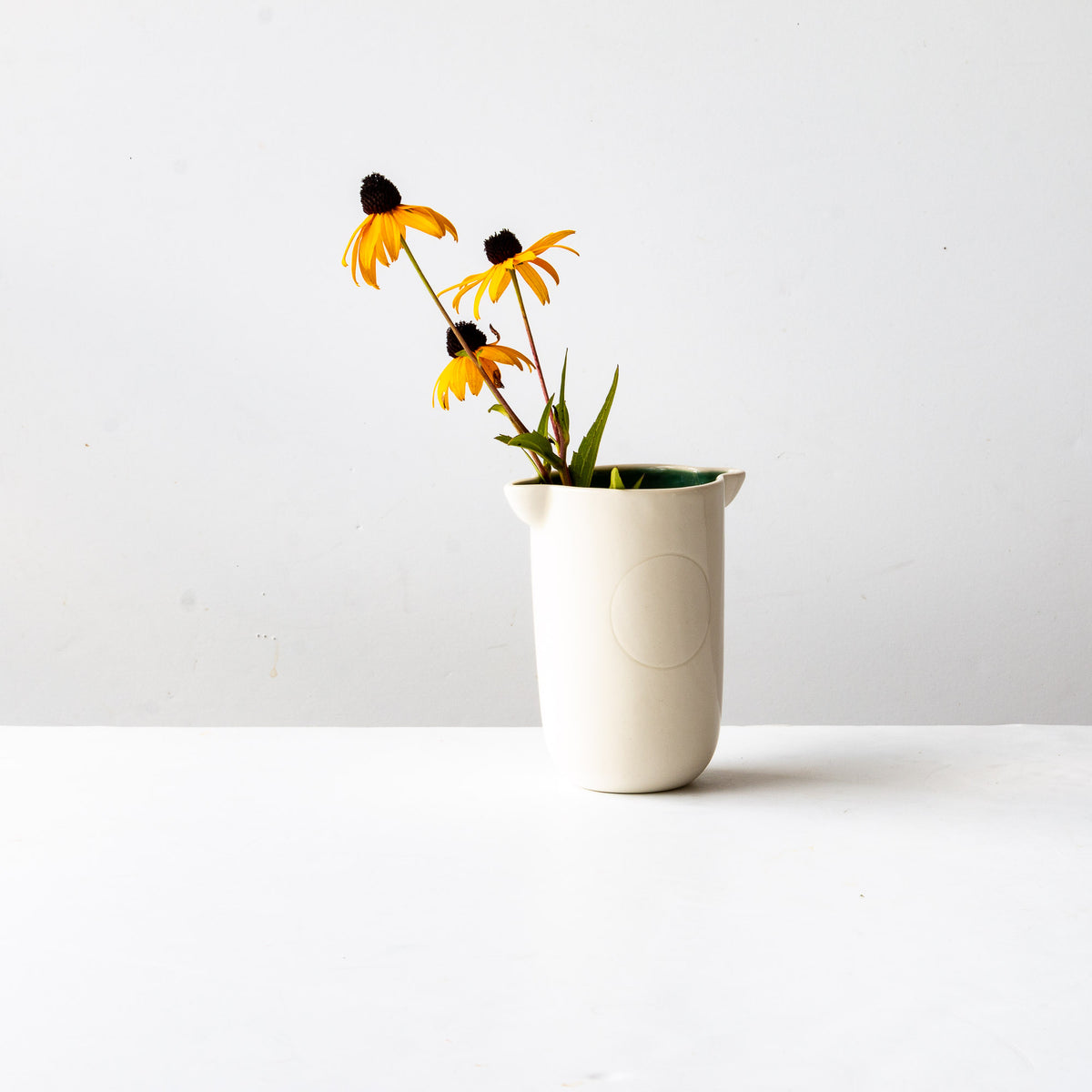 Handmade Tumbler / Small Porcelain Vase (With Flower)  - Sold by Chic & Basta