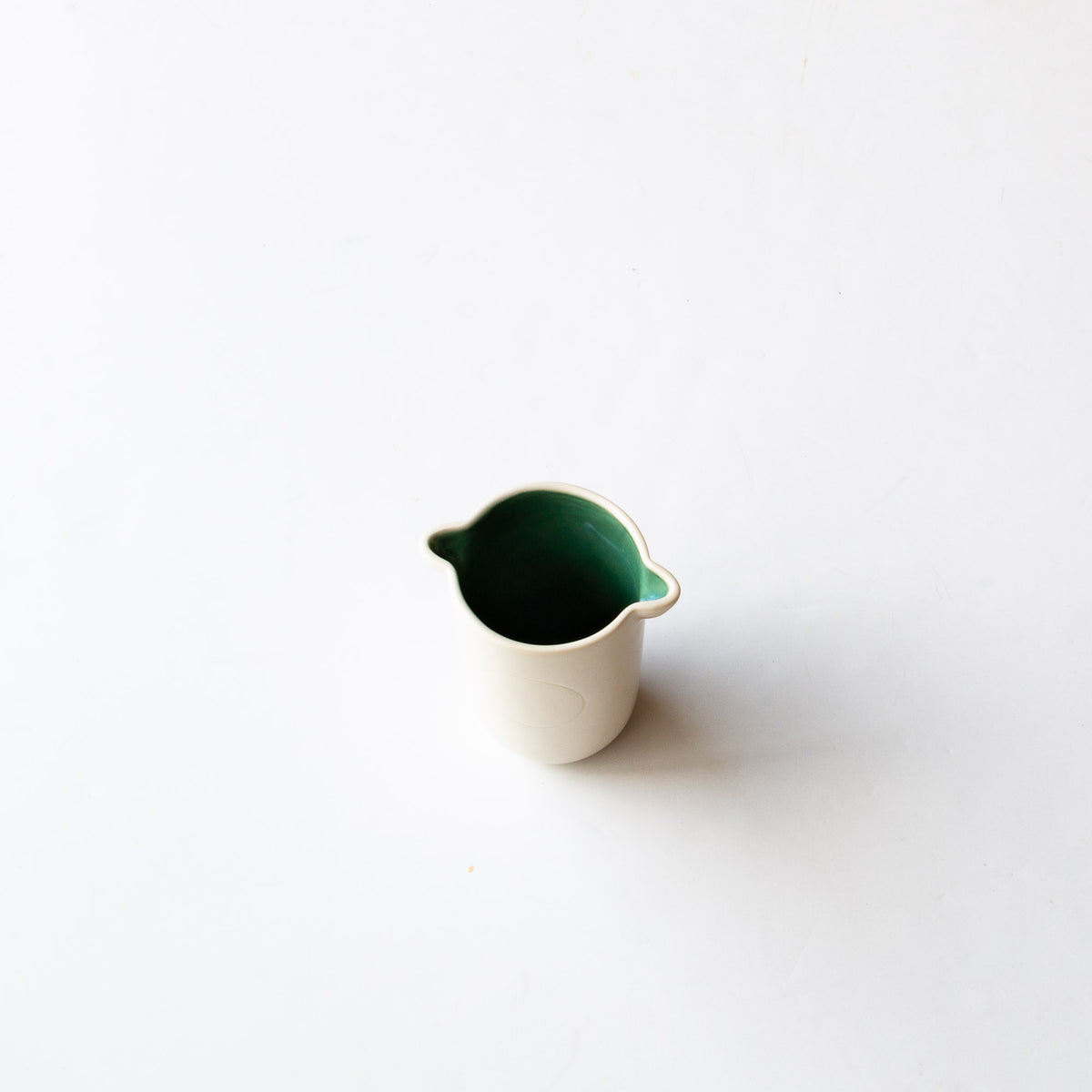 Top View - Handmade Tumbler / Small Porcelain Vase - Sold by Chic & Basta