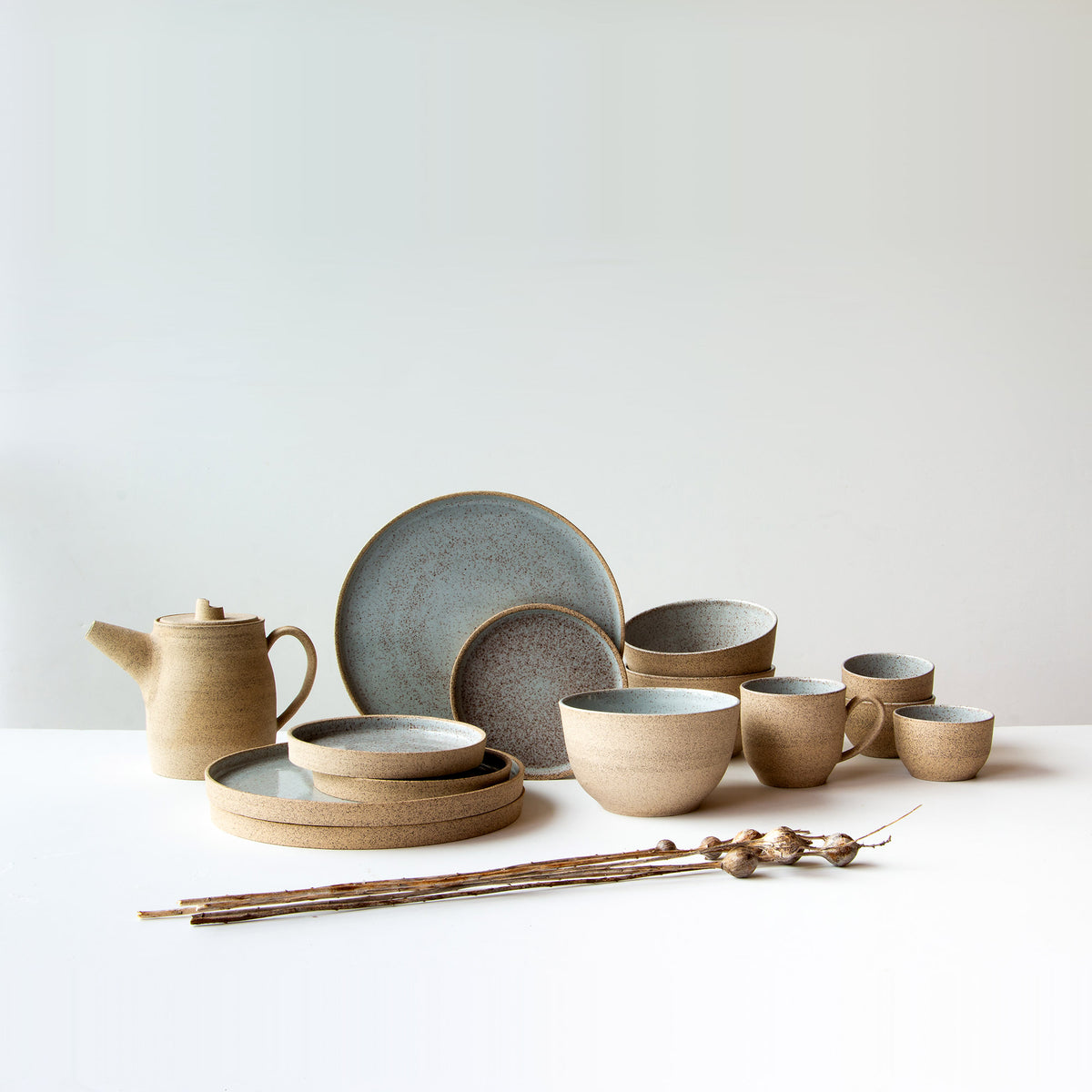 Valérie Pelletier's handmade ceramic work collection in speckled stoneware - Sold by Chic & Basta
