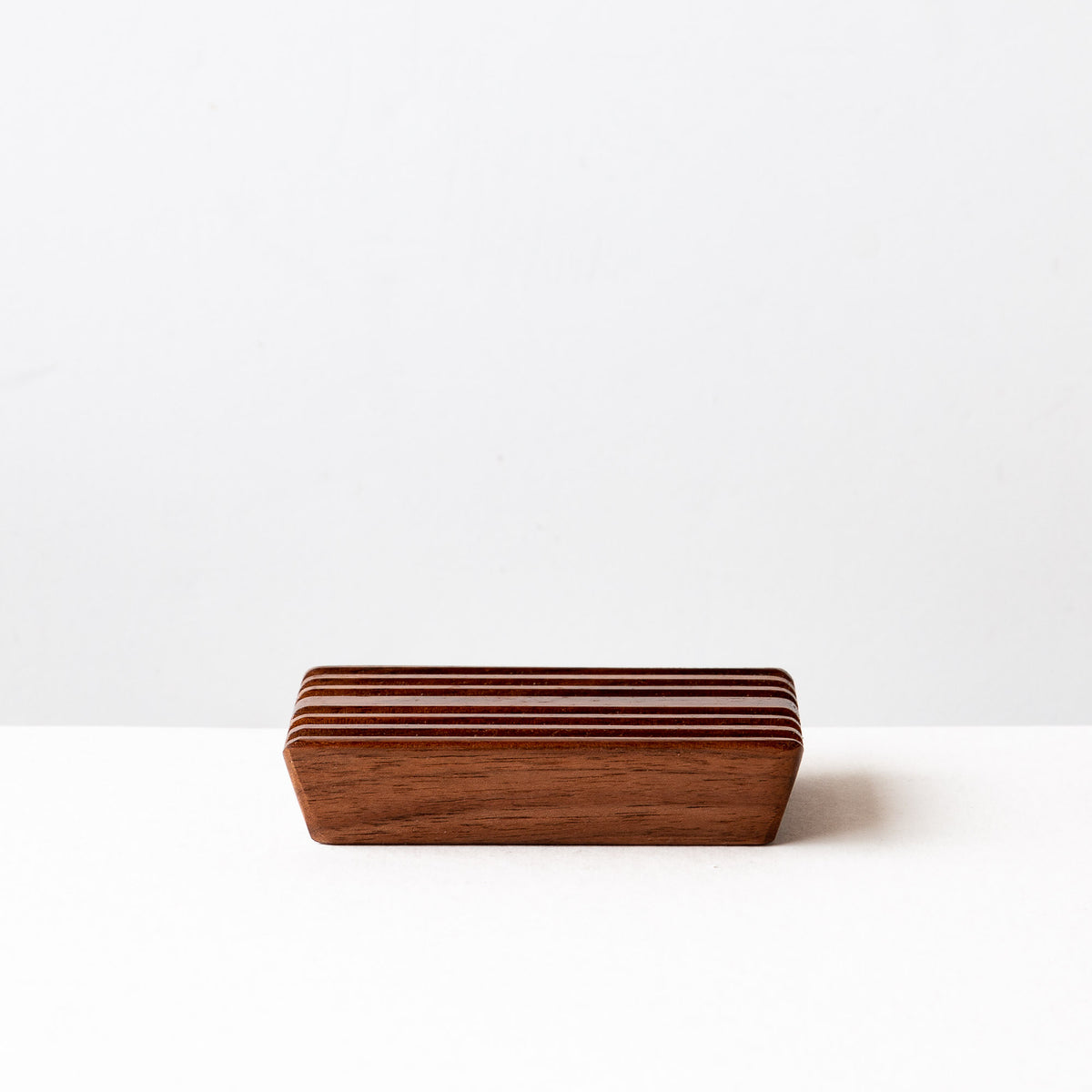 Side View - Black Walnut Soap Dish - Sold by Chic & Basta