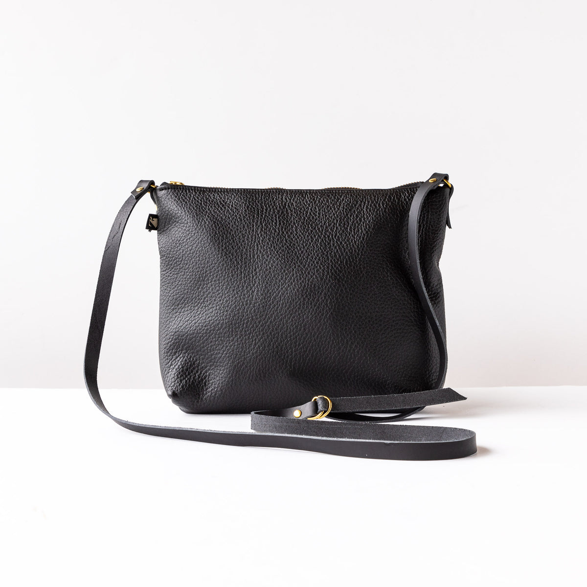 Rear View - Woodstock / Mauve Leather & Black Leather - Small Bag - Sold by Chic & Basta