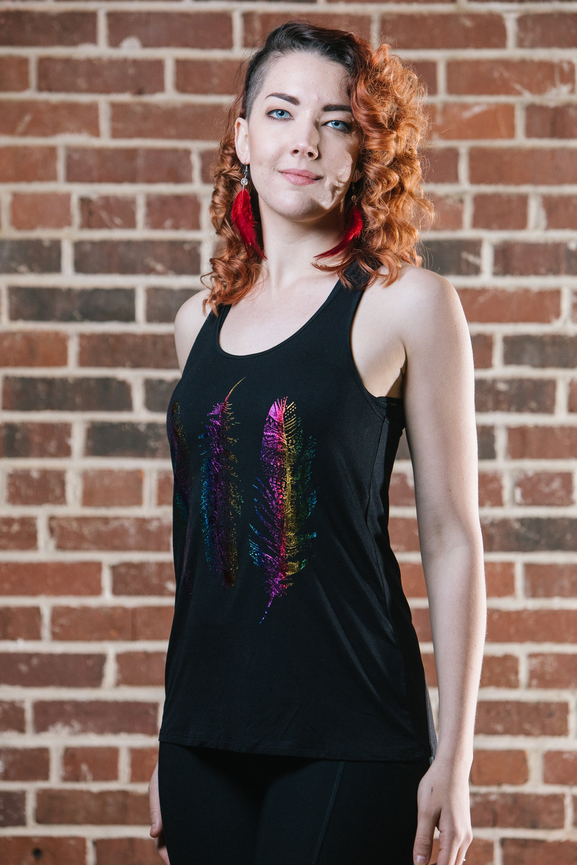 Metallic Feather Tank - size medium