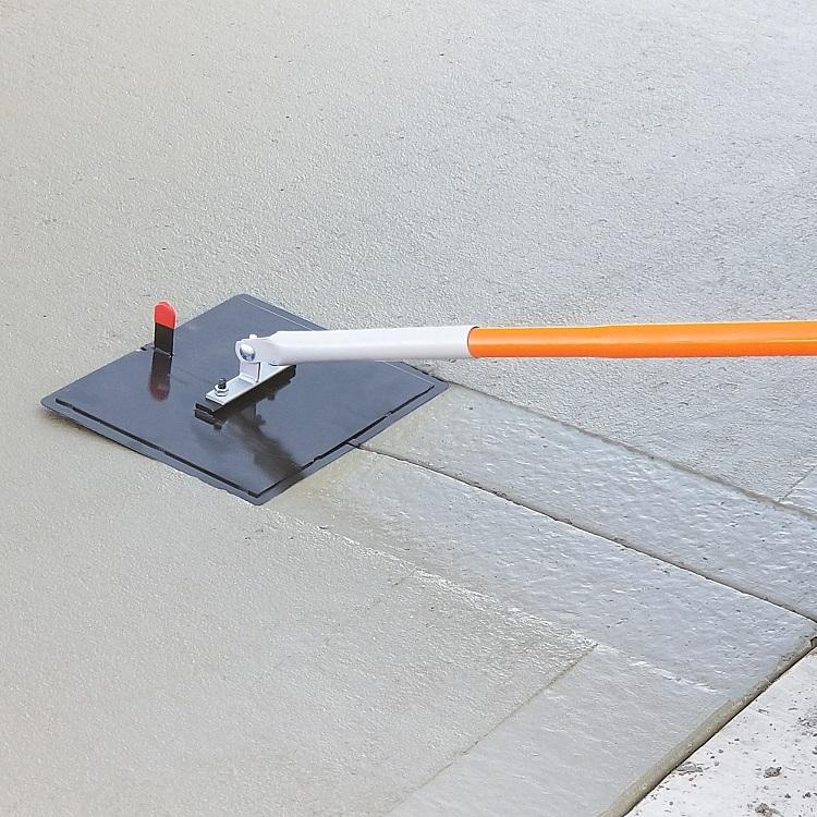 "Concrete Tool - 12"" X 14"" 3/4""R 1""D All Steel Walking Groover With Mounting Bar And Clevis Bracket"