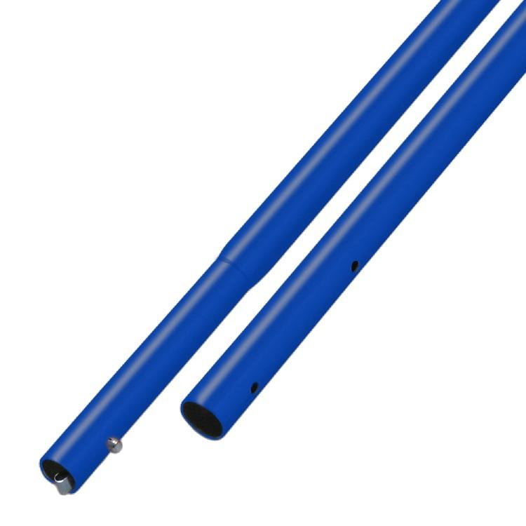 "Concrete Tool - 6' Blue Powder Coated Aluminum Handle - 1-3/4"" Diameter (6-Pack)"
