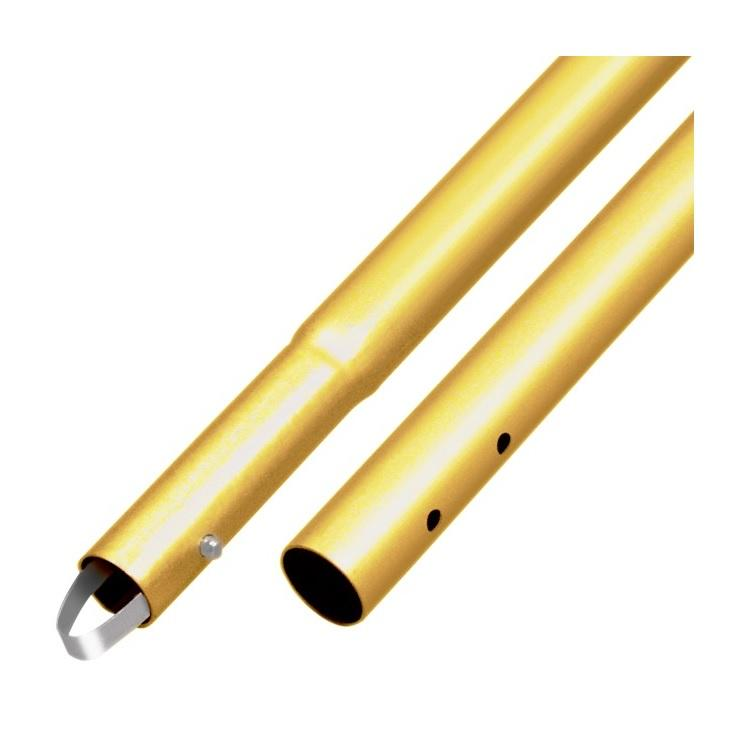 "Concrete Tool - 6' Gold Anodized Aluminum Handle - 1-3/4"" Diameter (6-Pack)"