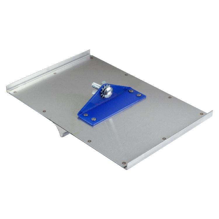 "Concrete Tool - 8"" X 12"" 1/4""W, 1/4""D Stainless Steel Walking Groover (Full Top Plate)"