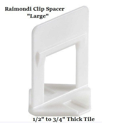"Tile Tools - Raimondi Large Tile Leveling Clip 1/16"" Spacer (Bag 400)"