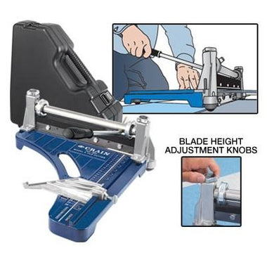 "Vinyl Tools - Crain 12"" Vinyl Tile Cutter With Case"