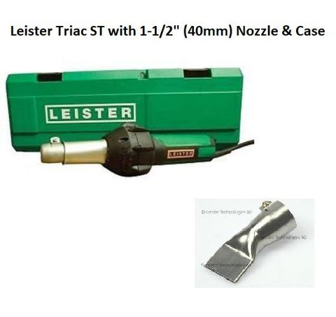 "Vinyl Flooring Tools - Leister Triac ST Heat Gun Welder With 1-1/2"" Nozzle And Case"