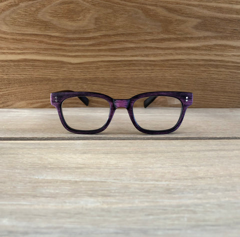 Woody Clubmaster - Dark Purple