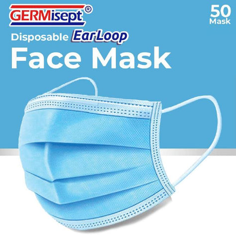 GERMisept Earloop 3-Ply Face Masks Case of 40 50ct./boxes #G01459