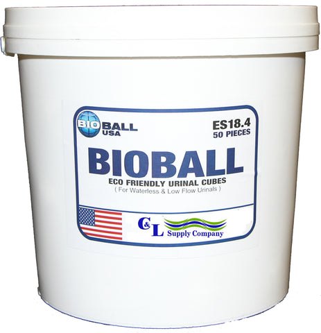 BIOBALL Urinal System #50142-1 Bucket of 50
