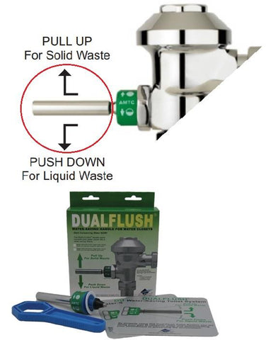 DUALFLUSH® Retrofit Handle for Toilet (1.6gpf) ADH-100-16