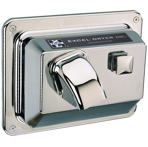 Hands On® Series Recessed Hand Dryer - Chrome R76-C -110/120v (1 at this price)