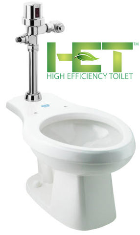 HYBRIDFLUSH® Automatic Floor Mount ADA Toilet System AEF-1012AT
