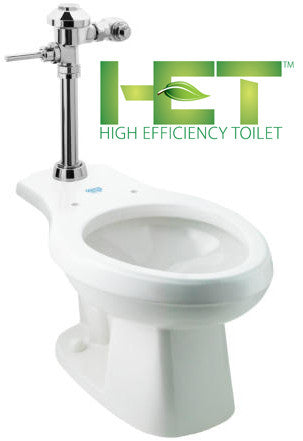 Manual Flush Valve Systems - Floor Mount ADA Water Closet (Toilet)