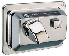 Hands On® Recessed Hand Dryer - Chrome #R76-C