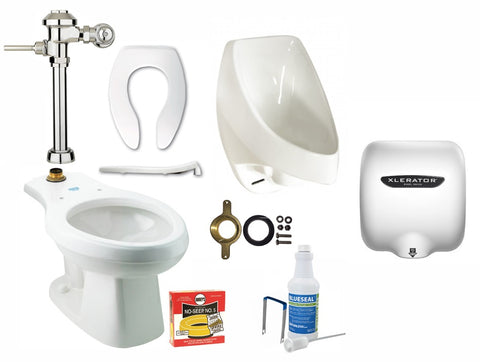 Waterless Urinal Men's Restroom Bundle