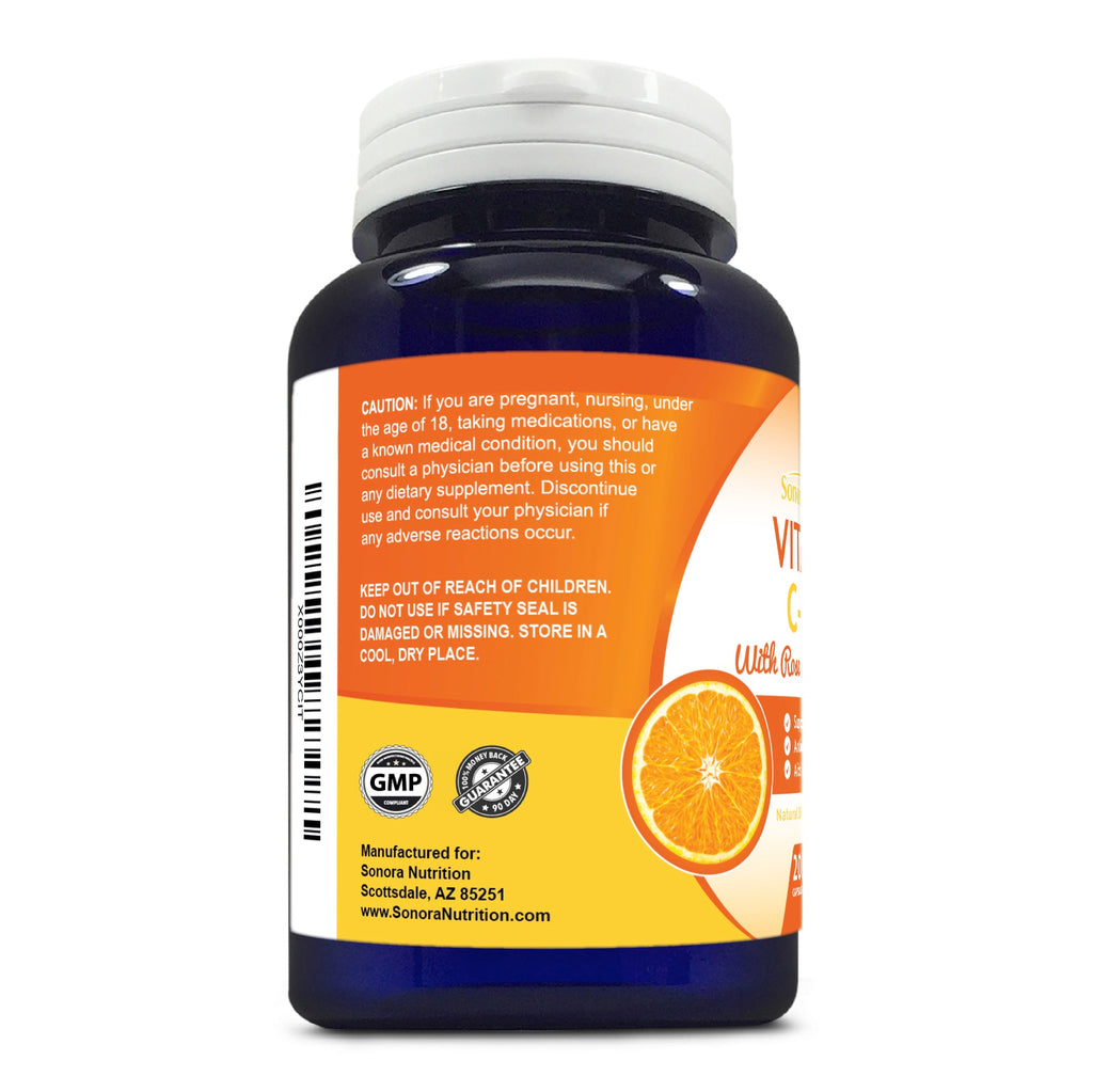 Vitamin C with Rose Hips - 200 Capsules