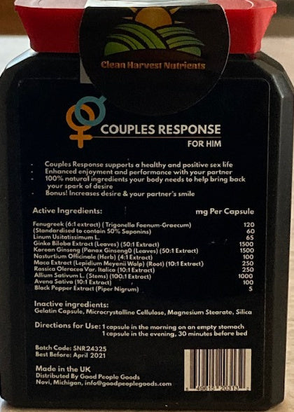 Clean Harvest Nutrients Couples Response Supplements
